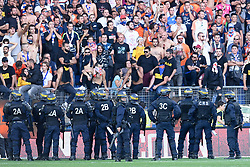 September 30, 2018 - Montpellier, France - INCIDENTS - COLERE - SUPPORTERS - POLICE -CRS - SECURITE (Credit Image: © Panoramic via ZUMA Press)