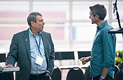 Tom Still from the Wisconsin Technology Council and Author John Zeratsky at the Wisconsin Entrepreneurship Conference at Venue 42 in Milwaukee, Wisconsin, Wednesday, June 5, 2019.