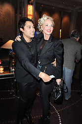 PABLO GANGULI and AMANDA ELIASCH at the Liberatum Dinner hosted by Ella Krasner and Pablo Ganguli in honour of Sir V S Naipaul at The Landau at The Langham, Portland Place, London on 23rd November 2010.