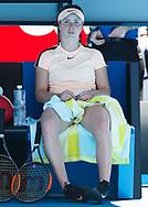 ELINA SVITOLINA (UKR) sitzt auf der Bank waehrend Spielpause, schaut nachdenklich,<br /> <br /> Tennis - Australian Open 2018 - Grand Slam / ATP / WTA -  Melbourne  Park - Melbourne - Victoria - Australia  - 23 January 2018.