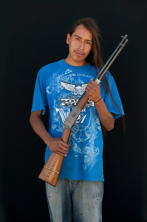 Marvin D. Runs Close,Lakota, South Dakota,USA.Model release 0131