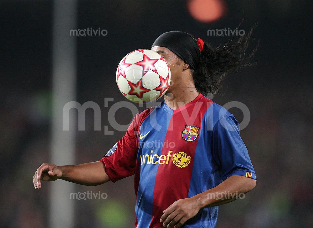 Fussball International Champions League 2006/2007  Gruppe A FC Barcelona 2 -0 SV Werder Bremen Ronaldinho (FCB)