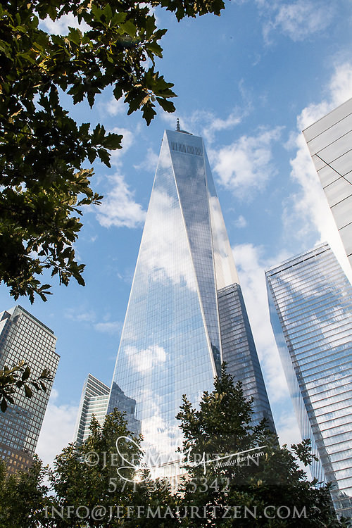 Low angle view of One World Trade Center, Manhattan, NYC.