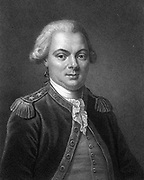 Jean Francois de Galaup, Comte de La Perouse (1741-1788) French navigator and explorer spent 4 years (1785-1788) exploring the islands in the Pacific Ocean, China and Japan, Hawaii, Australia and the Western Coast of North America. Engraving c1834.