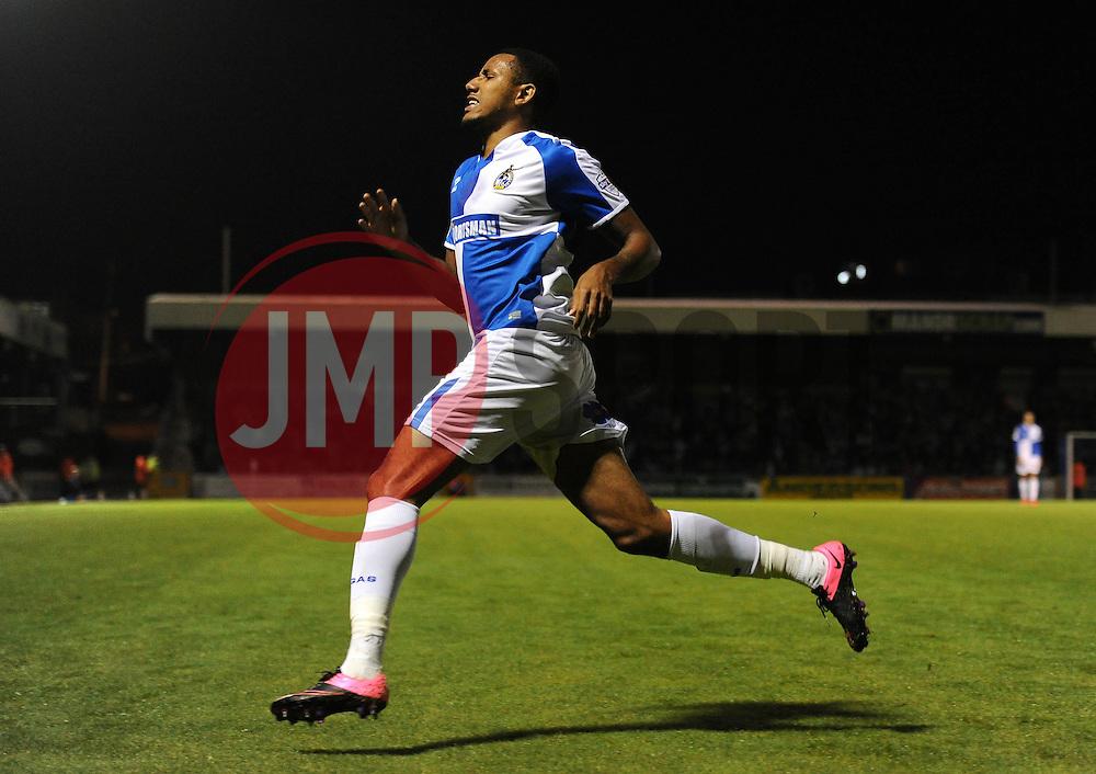 Cristian Montano of Bristol Rovers - Mandatory byline: Dougie Allward/JMP - 07966 386802 - 06/10/2015 - FOOTBALL - Memorial Stadium - Bristol, England - Bristol Rovers v Wycombe Wanderers - JPT Trophy