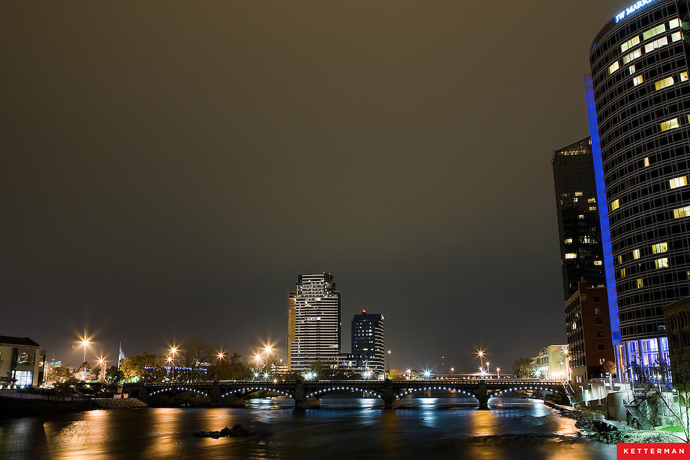 Hanging out in downtown Grand Rapids, Michigan.