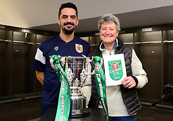 Former Bristol City player Scott Murray surprises a Bristol City fan with tickets to the Carabao Cup final - Mandatory by-line: Dougie Allward/JMP - 19/12/2017 - Sport - Ashton Gate - Bristol, England - Carabao Cup tour
