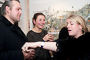BEN TURNBULL; NATASHA LAW; LAURA LOPES Christmas Salon at Eleven. Eccleston st. London. 9 December 2010. -DO NOT ARCHIVE-© Copyright Photograph by Dafydd Jones. 248 Clapham Rd. London SW9 0PZ. Tel 0207 820 0771. www.dafjones.com.