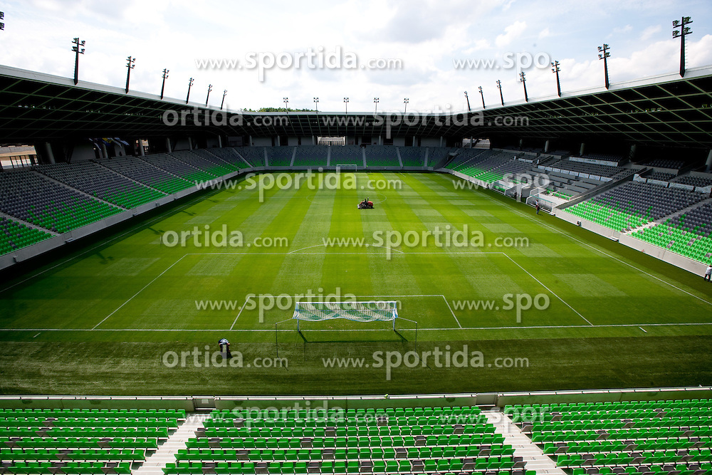 A day before the opening of a new football stadium in Stozice, on August 10, 2010, in Stozice, Ljubljana, Slovenia.  (Photo by Vid Ponikvar / Sportida)