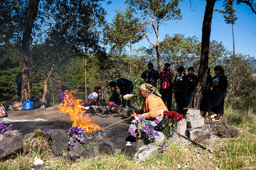 The Mayan New Year is celebrated  during a ceremony in the hills just outside San Juan Ostuncalco.