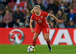 SOUTHAMPTON, ENGLAND - Friday, April 6, 2018: Wales' Charlie Estcourt during the FIFA Women's World Cup 2019 Qualifying Round Group 1 match between England and Wales at St. Mary's Stadium. (Pic by David Rawcliffe/Propaganda)