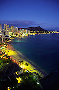 Twilight, Waikiki, Oahu, Hawaii<br />