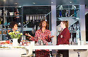 Linda <br /> by Penelope Skinner <br /> directed by Michael Longhurst <br /> at The Royal Court Theatre, London, Great Britain <br /> 30th November 2015 <br /> <br /> Nova Dumezweni as Linda <br /> <br /> Karla Crome as Alice <br /> <br /> Imogen Byron as Bridget <br /> <br /> <br /> <br /> Photograph by Elliott Franks <br /> Image licensed to Elliott Franks Photography Services