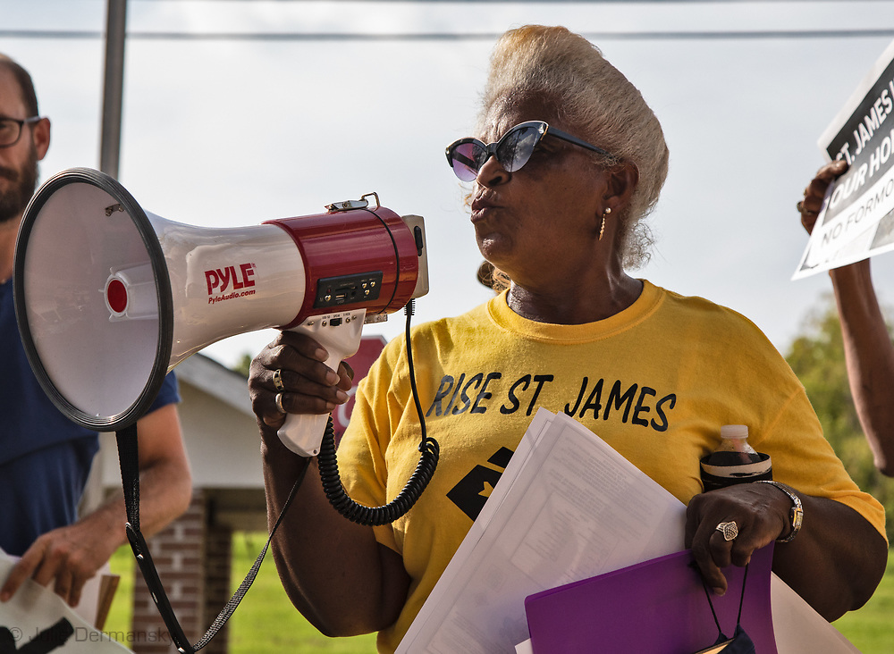 Gail Leboeuf speaking during the Coalition Agianst Death Alley's March