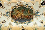 Deckengemälde im Rokoko Festsaal, Thüringer Museum im Stadtschloss, Eisenach, Thüringen, Deutschland |  city palace, Eisenach, Thuringia, Germany