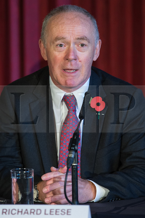 © Licensed to London News Pictures . 03/11/2014 . Manchester , UK . SIR RICHARD LEESE at Manchester Town Hall signing a deal to devolve power to Greater Manchester , including giving the city a Mayor and greater control over its finances . Photo credit : Joel Goodman/LNP