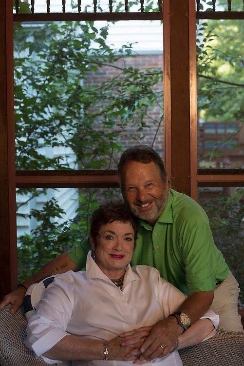 Retired KDKA reporter Mary Robb Jackson and her husband retired news photographer Michael Challik at their Mt Lebanon home.