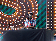 DJ Barry Bee appears during the Lip Sync Battle Live at SummerStage in Rumsey Playfield Central Park in New York City, New York on July 13, 2015.