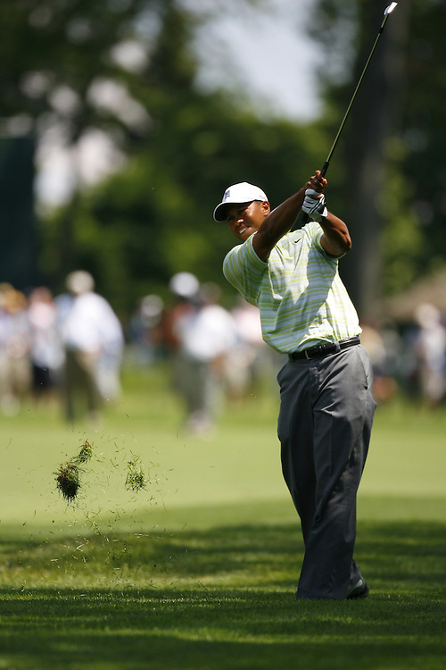 Tiger Woods of the US during the first round at the US Open Golf Championship at Winged Foot Golf Club in Mamaroneck New York Thursday 15 June 2006.