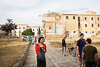 PALERMO, ITALY - 13 MAY 2012: Piazza Magione in the Kalsa district in Palermo, Italy, on May 13th 2012.<br /> <br /> ###<br /> <br /> PALERMO - 13 MAGGIO 2012: Piazza Magione nel quartiere Kalsa a Palermo il 13 maggio 2012.