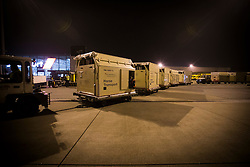 Flying stalls<br /> Departure of the horses to the World Cup Finals in Las Vegas from Schiphol - Amsterdam 2015.<br />  © Hippo Foto - Dirk Caremans
