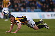 Port Vale midfielder Chris Birchall heads towards the goal during the Sky Bet League 1 match between Gillingham and Port Vale at the MEMS Priestfield Stadium, Gillingham, England on 16 April 2016. Photo by Martin Cole.