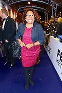AMSTERDAM - In theater Tuschinski is de Nederlandse film 'Feuten het Feestje' in premiere gegaan. Met hier op de foto  Justine Pelmelay. FOTO LEVIN DEN BOER - PERSFOTO.NU
