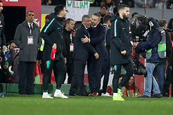 November 20, 2018 - Guimaraes, Guimaraes, Portugal - Fernando Santos head coach of Portugal (L) and Jerzy Brzeczek head coach of Poland (R) during the UEFA Nations League football match between Portugal and Poland at the Dao Afonso Henriques stadium in Guimaraes on November 20, 2018. (Credit Image: © Dpi/NurPhoto via ZUMA Press)