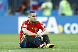 July 1, 2018 - Moscow, Russia - Round of 16 Russia v Spain - FIFA World Cup Russia 2018.Koke (Spain) disappointment during the penalties at Luzhniki Stadium in Moscow, Russia on July 1, 2018. (Credit Image: © Matteo Ciambelli/NurPhoto via ZUMA Press)