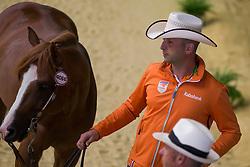Jurgen Pouls, (NED), Hollywood Gunman - Horse Inspection Reining  - Alltech FEI World Equestrian Games™ 2014 - Normandy, France.<br /> © Hippo Foto Team - Dirk Caremans<br /> 25/06/14