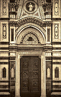 """Cathedral of Santa Maria del Fiore entrance - Florence – BW""…"