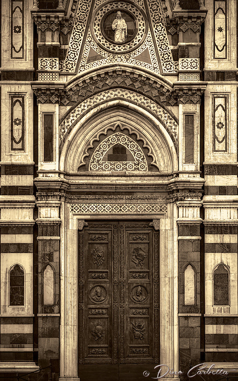 """""""Cathedral of Santa Maria del Fiore entrance - Florence – BW""""…"""