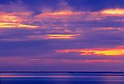 Stormy sky on Lake Winnipeg at dawn<br /> Hecla Provincial Park<br /> Manitoba<br /> Canada