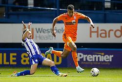 Tyrone Mings of Ipswich is challenged by Chris Maguire of Sheffield Wednesday - Photo mandatory by-line: Rogan Thomson/JMP - 07966 386802 - 30/09/2014 - SPORT - FOOTBALL - Sheffield, England - Hillsborough Stadium - Sheffield Wednesday v Ipswich Town - Sky Bet Championship.