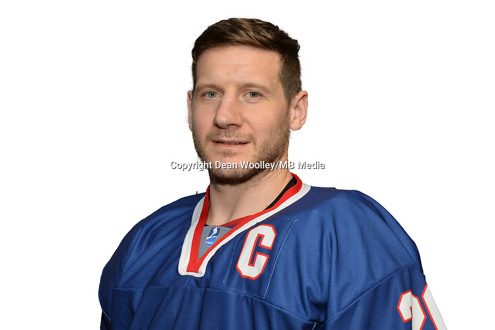 BUDAPEST, HUNGARY - APRIL 18:  Great Britain Ice Hockey Team Forward, Jonathan Phillips. IIHF World Championship Division 1A (Photo by Dean Woolley)