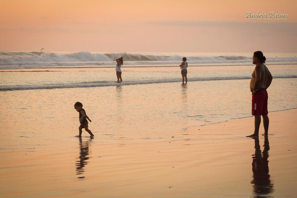 Sunset on Santa Teresa Beach, Costa Rica
