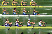 11/07/03/03 .2003 FISA Rowing World Cup - Lucerne.- Switzerland.Heat of the ITA M4- {centre] Bow Niccolo Mornati, Raffaello Leonardo,Lorenzo Carboncini and Carlo Mornati Rowing Course, Lake Rottsee, Lucerne, SWITZERLAND. [Mandatory Credit: Peter Spurrier:intersport Images]