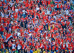 SAINT PETERSBURG, RUSSIA - Friday, June 22, 2018: Costa Rica supporters during the FIFA World Cup Russia 2018 Group E match between Brazil and Costa Rica at the Saint Petersburg Stadium. (Pic by David Rawcliffe/Propaganda)