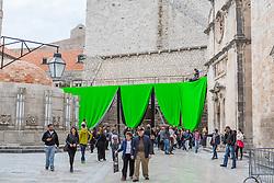 12.03.2016, Dubrovnik, CRO, Star Wars, Drehort Dubrovnik, im Bild Set Szenerie für den neuen Star Wars Film // Scenography at Stradun street for new movie Star Wars Dubrovnik, Croatia on 2016/03/12. EXPA Pictures © 2016, PhotoCredit: EXPA/ Pixsell/ Grgo Jelavic<br /> <br /> *****ATTENTION - for AUT, SLO, SUI, SWE, ITA, FRA only*****