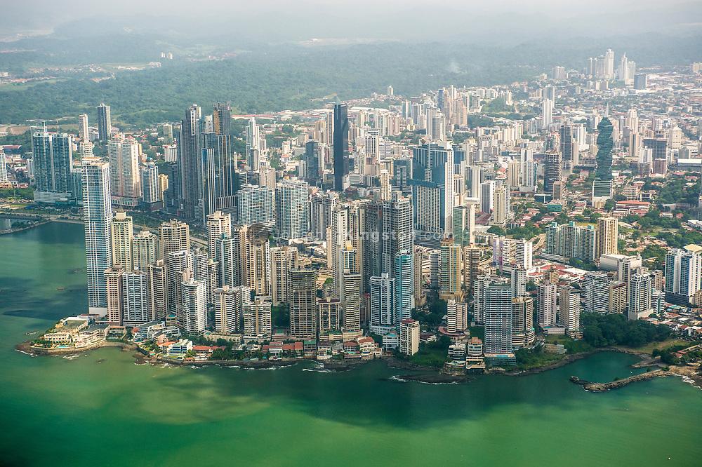 Aerial view of Panama City, Panama.