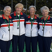Queens Cup Silver Medalist, USA, left to right, Mary Boswell, Yvonne van Nostrand, Margaret Canby, Lee Burling during the 2009 ITF Super-Seniors World Team and Individual Championships at Perth, Western Australia, between 2-15th November, 2009.