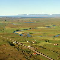 Víðigerði, Víðihlíð, Auðunnarstaðir m.fl. séð til norðurs, Húnaþing vestra áður Þorkelshólshreppur. / Vidigerdi, Vidihlid and Audunnarstadir viewing north. Hunathing vestra former Thorkelsholshreppur.