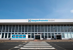 Exterior of passenger terminal at Prestwick Airport in Ayrshire, Scotland, UK