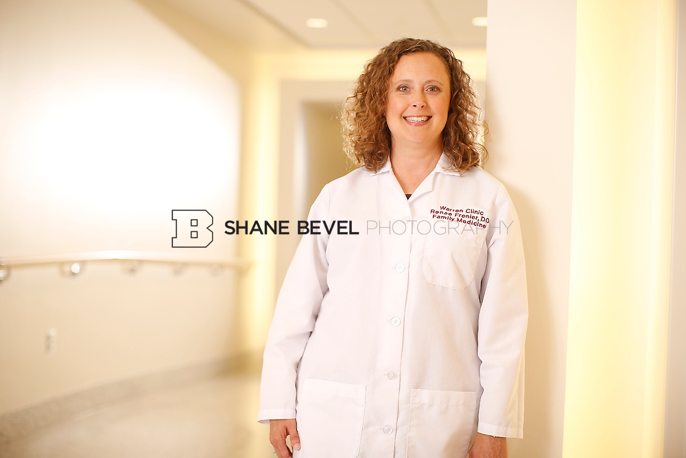 5/28/15 4:17:53 PM -- Dr. Renee Frenier of Saint Francis Health System poses for a portrait for the 2015 Advertising Campaign. <br /> <br /> Photo by Shane Bevel