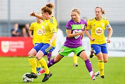 Juliette Kemppi of Bristol City challenges Aoife Mannion of Birmingham City Women - Mandatory by-line: Ryan Hiscott/JMP - 14/10/2018 - FOOTBALL - Stoke Gifford Stadium - Bristol, England - Bristol City Women v Birmingham City Women - FA Women's Super League 1
