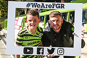 Forest Green Rovers Dayle Grubb(8) selfie during the EFL Sky Bet League 2 match between Forest Green Rovers and Mansfield Town at the New Lawn, Forest Green, United Kingdom on 19 October 2019.