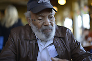 12/11/14 Monticello MS- Civil rights icon and Mississippi Native, James Meredith Speaks about his message is about education and the cornerstone for the foundation for s successful human being is the 10 commandments and grandparents to instill early life lessons to their grandchildren. Photo © Suzi Altman