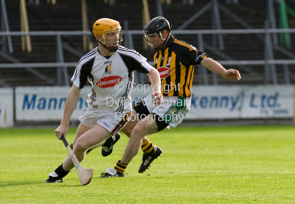 20/8/2008..From Left Richie Power and Noel Hickey pictured at the Kilkenny GAA media night training session at Nowlan Park..Picture Dylan Vaughan.