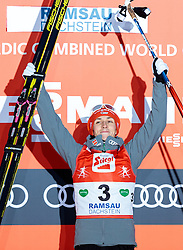 18.12.2016, Nordische Arena, Ramsau, AUT, FIS Weltcup Nordische Kombination, Siegerehrung, im Bild Sieger Eric Frenzel (GER) // Winner Eric Frenzel of Germany during Winner Award Ceremony of FIS Nordic Combined World Cup, at the Nordic Arena in Ramsau, Austria on 2016/12/18. EXPA Pictures © 2016, PhotoCredit: EXPA/ JFK