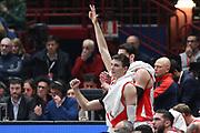 Esultanza Panchina Baskonia, Ax Armani Exchange Olimpia Milano vs Baskonia Vitoria Gasteiz - EuroLeague 2017/2018, Milano Mediolanum Forum 20 dicembre 2017 - foto BERTANI/Ciamillo-Castoria